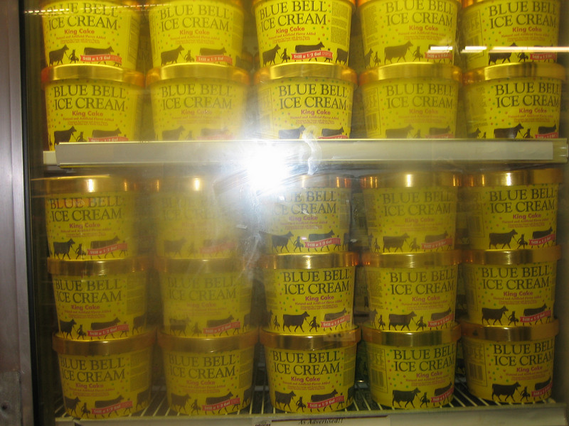 King-Cake flavored Blue Bell ice cream. Only in New Orleans.