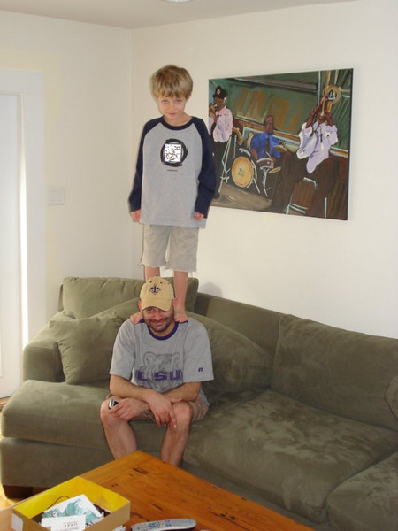 Robert's son misuses my body in an acrobatic fashion