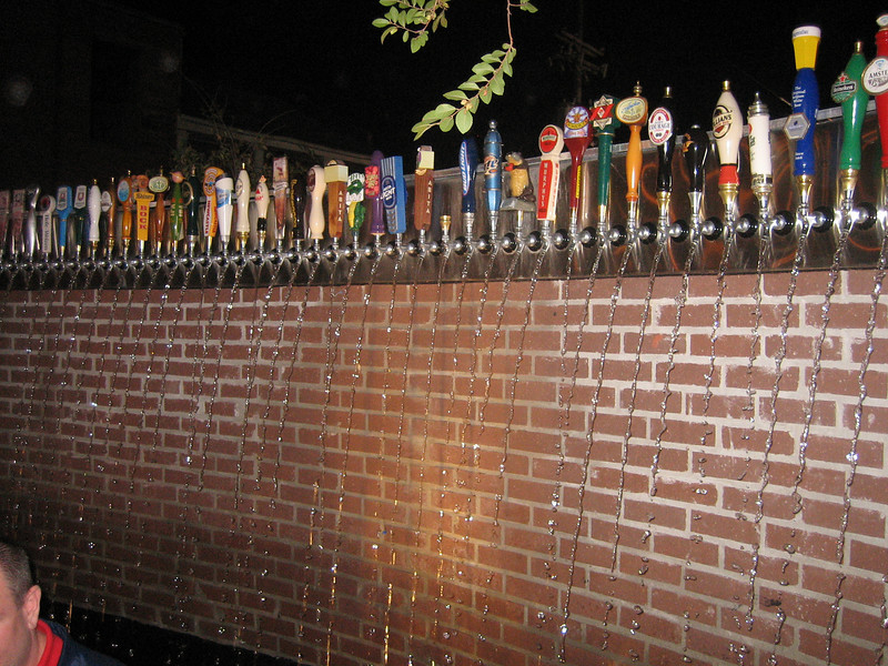 Neet water fountain made from beer taps
