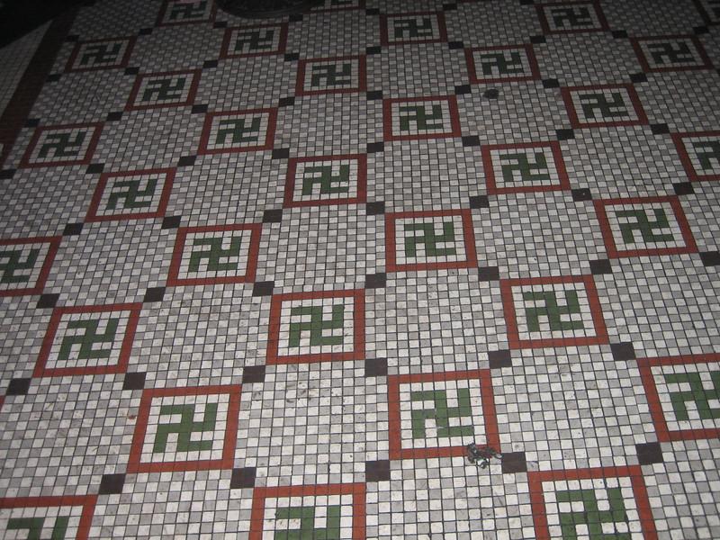 The incredible floor tile at Ernst Cafe.