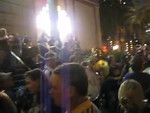 The LSU Alumni Band featuring the Bucktown AllStars on the front steps of Harrah's