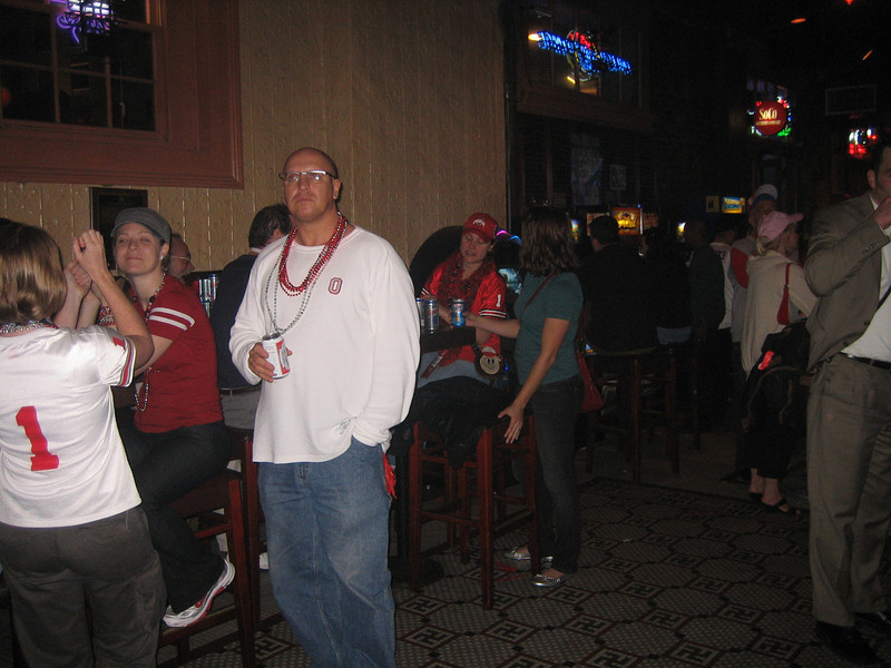 Ohio State rented out this bar but they couldn't help but let us in after the game. Check out the floor tile.