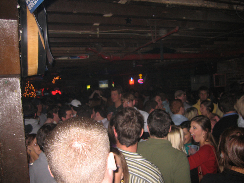 The Red-Eye in the Warehouse District still packs a young crowd (which we've since blown by)