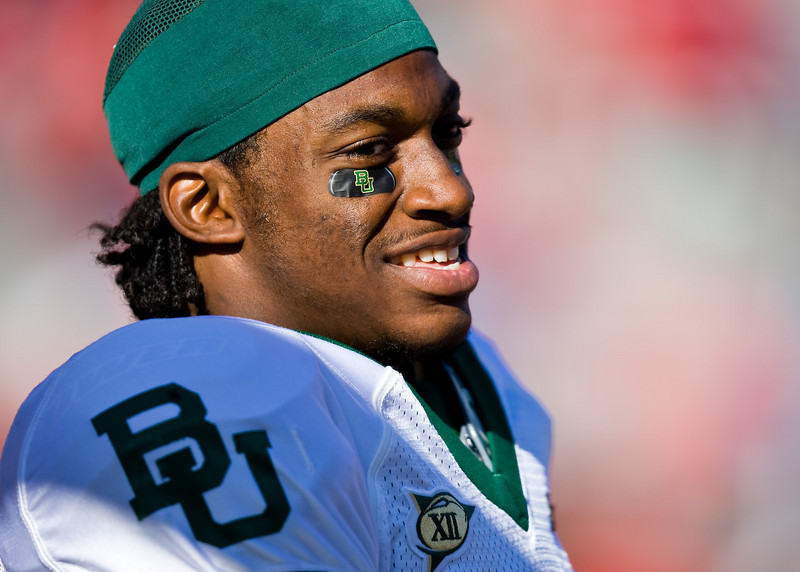25 October 2008: Baylor quarterback Robert Griffin smiles before the Nebraska game.  The Cornhuskers beat Baylor 32-20 at Memorial Stadium in Lincoln, Nebraska.