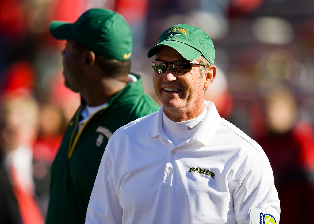 25 October 2008: Baylor head coach Art Briles smiles before the Nebraska game.  The Cornhuskers beat Baylor 32-20 at Memorial Stadium in Lincoln, Nebraska.