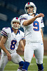 Aug 30, 2012; Detroit, MI, USA;Buffalo Bills place kicker Rian Lindell (9) and punter Brian Moorman (8) warm up before the preseason game against the Detroit Lions at Ford Field. Mandatory Credit: Tim Fuller-US PRESSWIRE