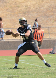 Clayton Welch as Butte College plays its home opener Saturday, Sept. 10, 2016, against Laney College at Cowan Stadium in Butte Valley, California. (Dan Reidel -- Enterprise-Record)