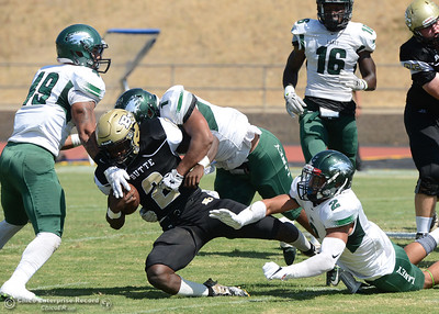 Butte College plays its home opener Saturday, Sept. 10, 2016, against Laney College at Cowan Stadium in Butte Valley, California. (Dan Reidel -- Enterprise-Record)