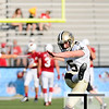 Aug 5, 2012; Canton, OH, USA; New Orleans Saints place kicker Garrett Hartley (5) warms up before the preseason game against the Arizona Cardinals at Fawcett Stadium. Mandatory Credit: Tim Fuller-US PRESSWIRE