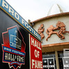 Aug 5, 2012; Canton, OH, USA; A general exterior view of the Pro Football Hall of Fame before the preseason game between the New Orleans Saints and the Arizona Cardinals at Fawcett Stadium. Mandatory Credit: Tim Fuller-US PRESSWIRE