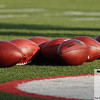Aug 5, 2012; Canton, OH, USA; National Football League footballs before the preseason game between the New Orleans Saints and the Arizona Cardinals at Fawcett Stadium. Mandatory Credit: Tim Fuller-US PRESSWIRE