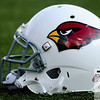 Aug 5, 2012; Canton, OH, USA; Arizona Cardinals helmet before the preseason game between against the New Orleans Saints at Fawcett Stadium. Mandatory Credit: Tim Fuller-US PRESSWIRE