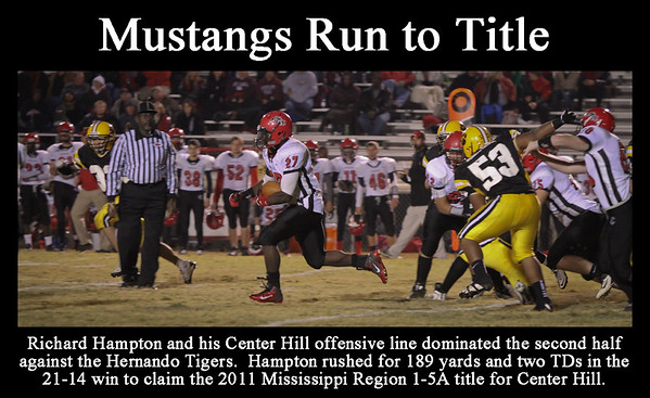 My version for the sports section of the DeSoto Appeal or Times Tribune.  Congrats to the Mustangs ... SIX STRAIGHT WINS and the Region title ... good luck in the playoffs!!