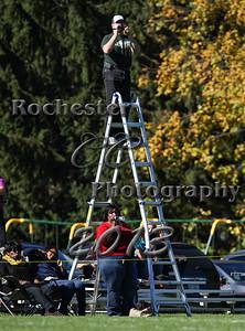 October 12, 2013;  Rochester, NY; USA; Charles Finney Falcons Football vs. Batavia Notre Dame Irish at Charles Finney Field  Photo: Christopher Cecere