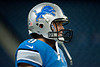 Aug 10, 2012; Detroit, MI, USA; Detroit Lions quarterback Matthew Stafford (9) before the preseason game against the Cleveland Browns at Ford Field. Mandatory Credit: Tim Fuller-US PRESSWIRE