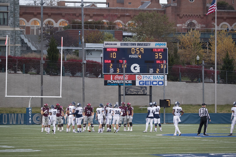 Colgate, Georgetown, Football