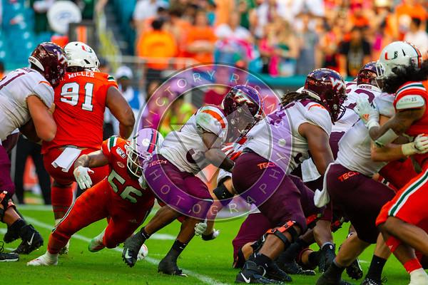 Virginia Tech vs University of Miami at Hard Rock Stadium Oct 5, 2019 3:30pm kickoff