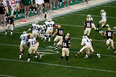 Richardson drags several BU players to the 34 yard line.