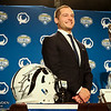 Wisconsin Football Head Coach Paul Chryst and Western Michigan University Football Head Coach P. J. Fleck at the 2017 Goodyear Cotton Bowl press conference on January 1st, 2017 at the Omni Hotel in Dallas, Texas.