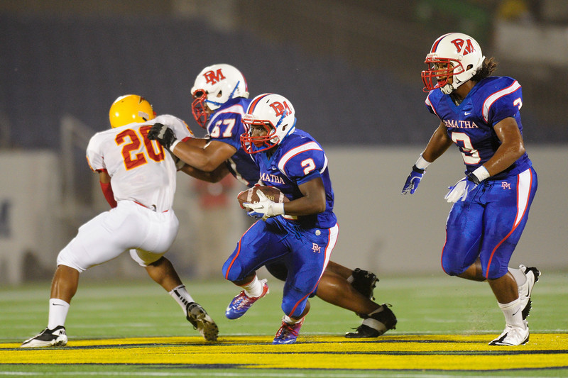 Sept 9, 2011 : DeMatha's Michael Moore (2) in action during action at the 2011 Patriot Classic Football tournament at the United States Naval Academy Stadium in Annapolis, Maryland. Calvert Hall dominated and came away with a 18-0 victory over DeMatha.