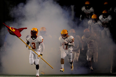 Sept 9, 2011 : Daquan Davis (3) brings in the team flag before  action at the 2011 Patriot Classic Football tournament at the United States Naval Academy Stadium in Annapolis, Maryland. Calvert Hall dominated and came away with a 18-0 victory over DeMatha.