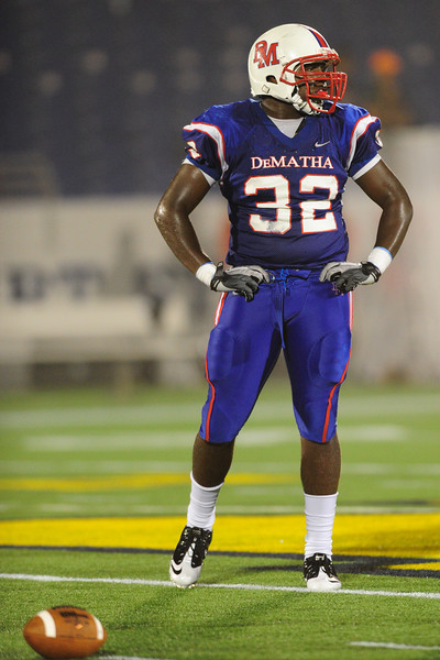 Sept 9, 2011 : DeMatha's Brian Charles (32)during action at the 2011 Patriot Classic Football tournament at the United States Naval Academy Stadium in Annapolis, Maryland. Calvert Hall dominated and came away with a 18-0 victory over DeMatha.