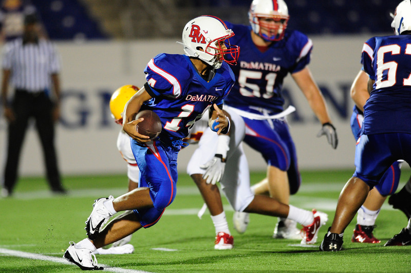 Sept 9, 2011 : DeMatha's Demory Monroe (9/11) during action at the 2011 Patriot Classic Football tournament at the United States Naval Academy Stadium in Annapolis, Maryland. Calvert Hall dominated and came away with a 18-0 victory over DeMatha.