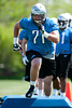 May 11, 2012; Allen Park, MI, USA; Detroit Lions offensive tackle Riley Reiff (71) in action during rookie mini camp at the Detroit Lions training facility. Mandatory Credit: Tim Fuller-US PRESSWIRE