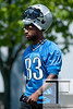 May 11, 2012; Allen Park, MI, USA; Detroit Lions wide receiver Patrick Edwards (83) during rookie mini camp at the Detroit Lions training facility. Mandatory Credit: Tim Fuller-US PRESSWIRE