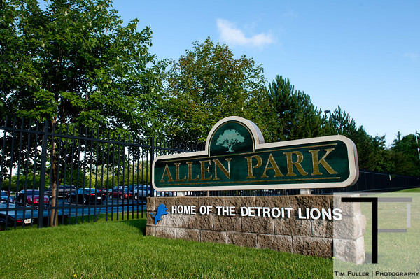 July 28, 2012; Allen Park, MI, USA; A general view of the entrance of the Detroit Lions headquarters and training facility before the start of training camp. Mandatory Credit: Tim Fuller-US PRESSWIRE