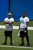July 27, 2012; Allen Park, MI, USA; Detroit Lions linebacker Stephen Tulloch (55) and defensive tackle Andre Fluellen (96) during training camp at the Detroit Lions training facility. Mandatory Credit: Tim Fuller-US PRESSWIRE