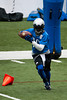 July 27, 2012; Allen Park, MI, USA; Detroit Lions wide receiver Titus Young (16) completes drills during training camp at the Detroit Lions training facility. Mandatory Credit: Tim Fuller-US PRESSWIRE