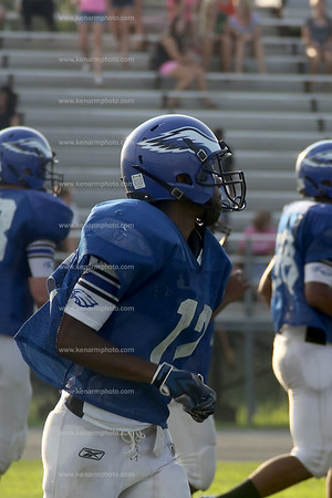 East bladen football scrim 2014