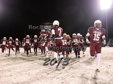 November 23, 2013;  Rochester, NY; USA; NYSPHSAA Class AA Semifinal: Elmira Free Academy Express vs. Aquinas Lil Irish at Sahlen's Stadium  Photo: Christopher Cecere