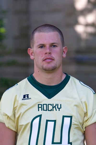 #14 Casey Gregersen<br /> 6-1 / 200 / Junior <br /> Quarterback<br /> Big Horn, WY – Big Horn HS<br /> Chemistry / Math <br /> Steve and Jana Gregersen