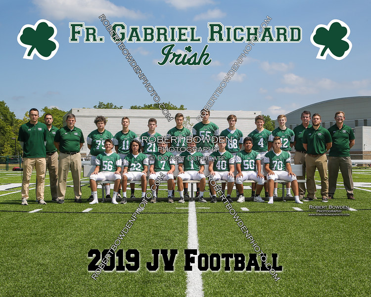 2019 FGR JV Football Team 8x10