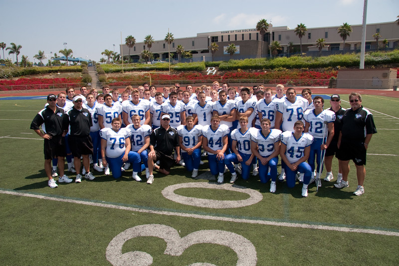 Dana Hills Varsity Team Photo on Field