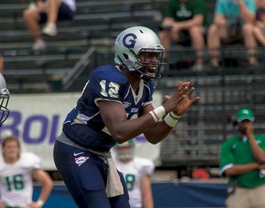 Hoyas quarterback Aaron Aiken