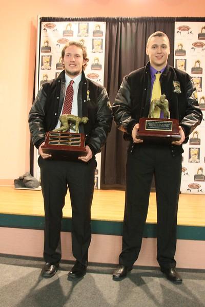 Zach Davis, Windham 2014 ~ Offensive Lineman of the Year<br /> Zordan Holman, Cheverus ~  2014 Defensive Lineman of the Year