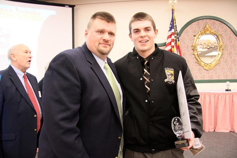 Coach Perkins with Matt McLean HS Senior at Windham HS.