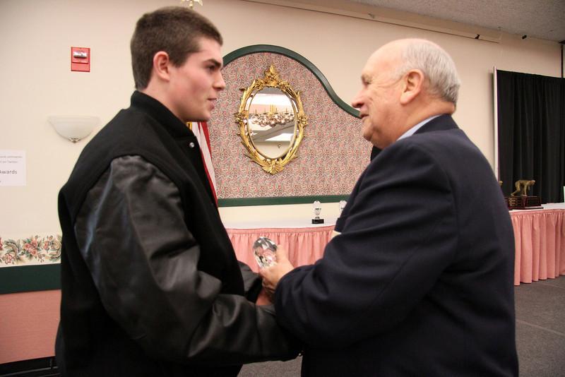 Mike Haley Congratulating Matt McLean.