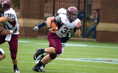Colgate's Nate Eachus (32) with the ball