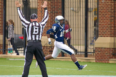Georgetown opened the scoring in the first quarter after Isaiah Kempf found Jamal Davis (15) open for what looked like a short pass, but Davis broke four tackles and darted down the sideline for a 63-yard touchdown.