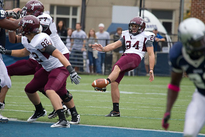 Colgate punter Evan Goldszak (24)
