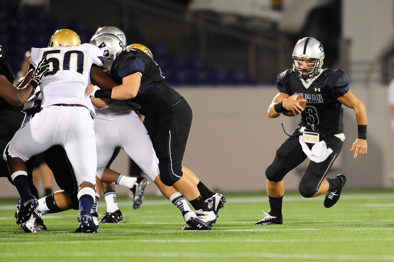 Sept 10, 2011 : Gilman quarterback Shane Cockerille (3) in action at the 2011 Patriot Classic Football tournament at the United States Naval Academy Stadium in Annapolis, Maryland. Good Counsel defeated Gilman 26-21.