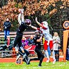 Groton-Dunstable's Nate Forbes intercepts a pass intended for Tyngsboro's Kyle Corkum. SUN/Ed Niser