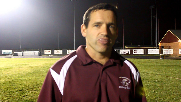 Broad Run High School football coach Mike Burnett after his Spartans defeated Wilson (D.C.), 41-0, on Thurs. Sept. 17.