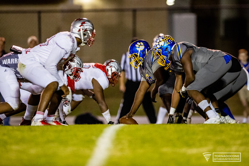 Crisp County offensive line faces off against the Jenkins defence.[HUNTER D. CONE/SAVANNAHNOW.COM]