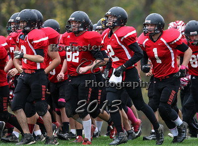October 19, 2013;  Holley, NY; USA; Holley Hawks Football vs. Oakfield-Alabama Hornets at Holley Field  Photo: Christopher Cecere