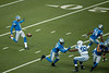 Dec 2, 2012; Detroit, MI, USA; Detroit Lions punter Nick Harris (5) punts during the first quarter against the Indianapolis Colts at Ford Field. Mandatory Credit: Tim Fuller-USA TODAY Sports